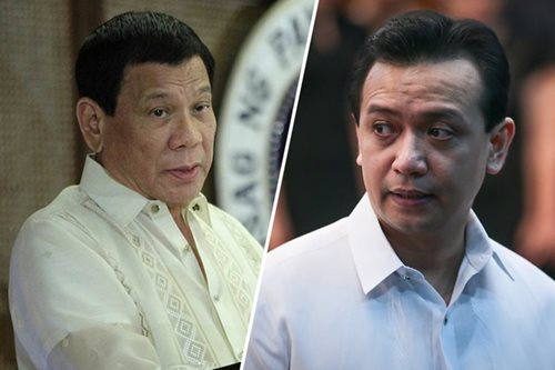 Duterte accuses Trillanes of collecting money from businessmen