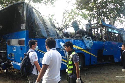 Naaksidenteng bus sa Tanay, nag-init umano bago mawalan ng preno
