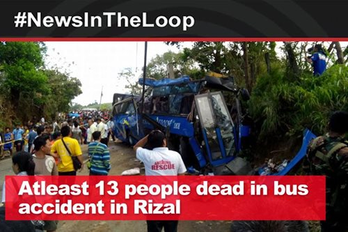 In the loop: At least 14 people dead in bus accident in Rizal