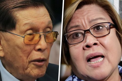 Enrile to De Lima: No such thing as a political prisoner