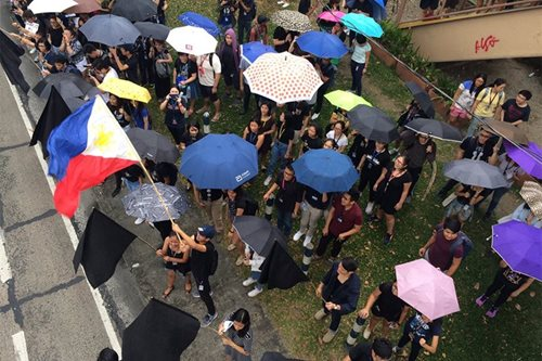 Ateneo students walk out of class to protest death penalty bill
