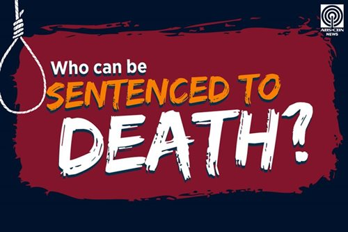 Who can be sentenced to death?