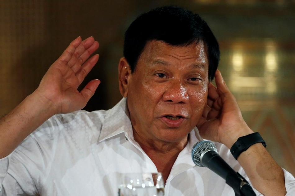 Duterte says will snub graft probe 1