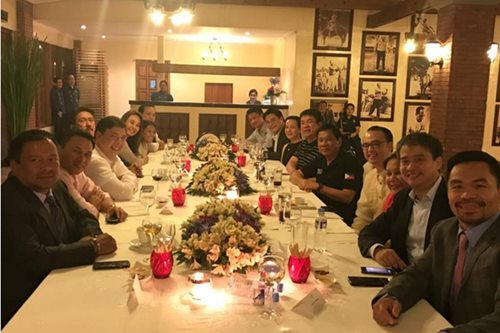 Duterte sought support from Senators during 'intimate' dinner