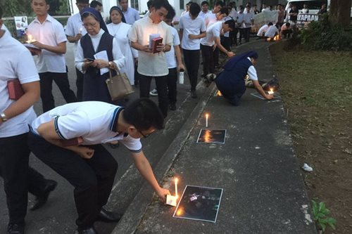 Nuns, seminarians hold prayer rally to protest EJKs, death penalty