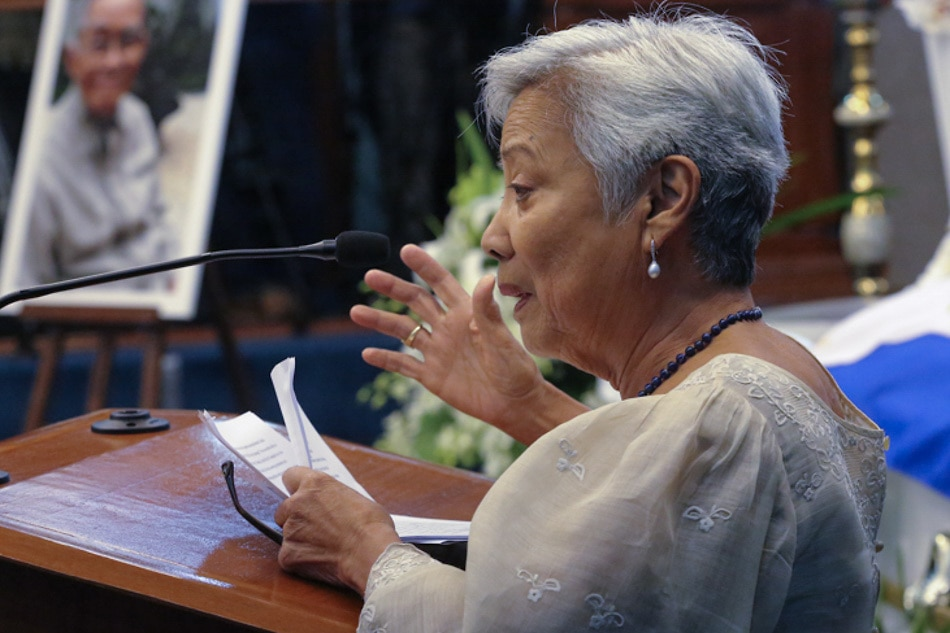 Former Senator Leticia Ramos-Shahani passes away at 87