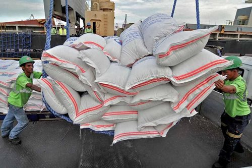 800,000 rice sacks languish at Subic port amid rains