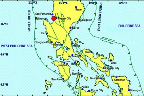 3 mild tremors recorded in Baguio City