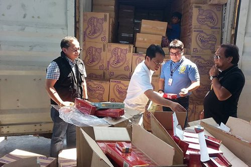 Smuggled cigarettes seized in Mindanao Container Terminal
