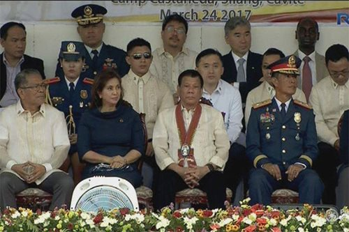 LOOK: Duterte, Robredo seated together as impeachment talks swirl