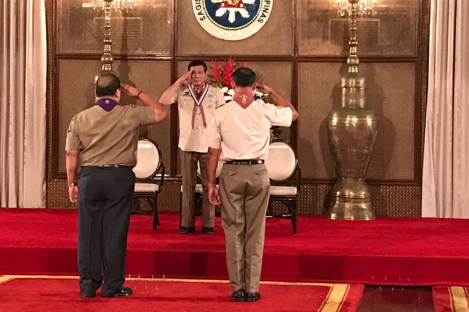 LOOK: Duterte dons boy scout uniform | ABS-CBN News