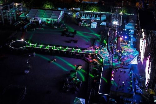 LOOK: Stage set for Coldplay's Manila concert