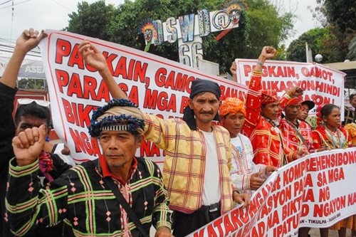 Lumad protest at DSWD