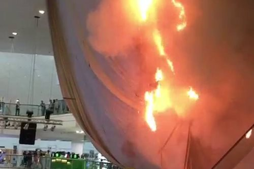 Fire hits Glorietta in Makati City