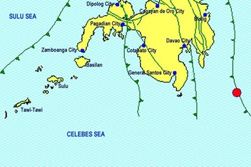 Earthquakes recorded off Davao Oriental