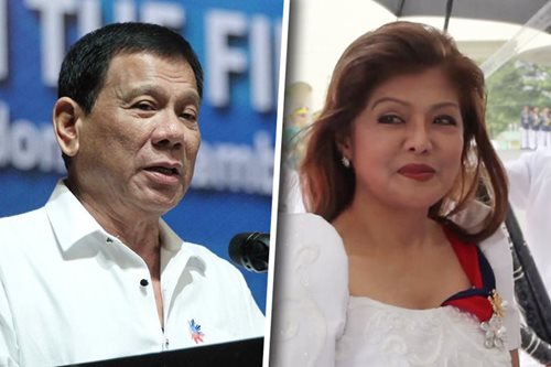 Imee Marcos seeks audience with Duterte, fears jail