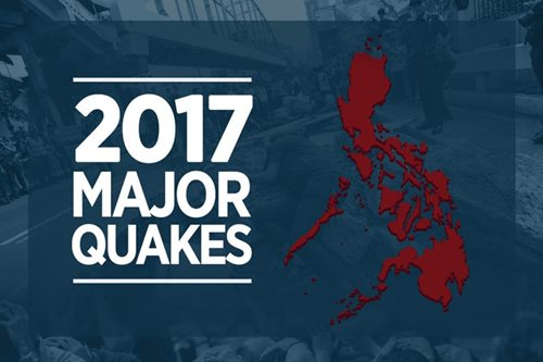 INFOGRAPHIC: Places in PH hit by strong earthquakes in 2017