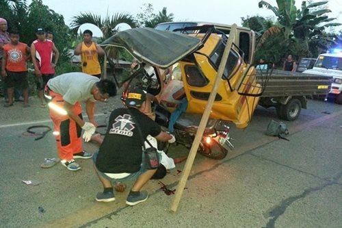 Mag-lolo, sugatan sa salpukan ng truck at tricycle sa Quirino