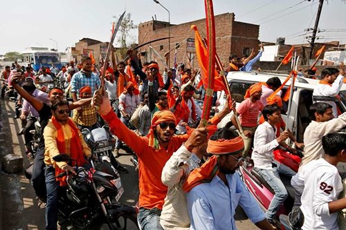 Hardline Hindu youth call the shots on streets of northern India