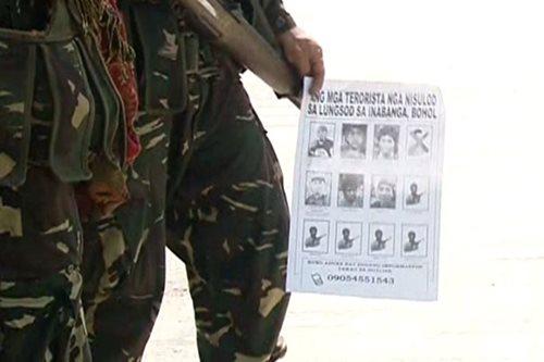 Pabuya inalok kontra 7 Abu Sayyaf sa Bohol