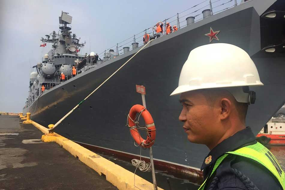 Russian ships in Manila for goodwill visit