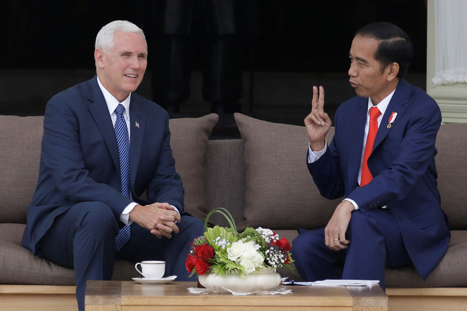 Vice President Mike Pence praises Indonesia's democratic, tolerant values