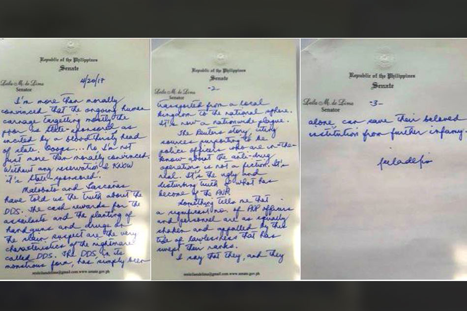 De Lima petitions anew for release