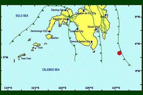 2 quakes monitored in Davao Oriental