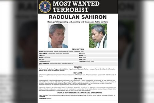 Abu Sayyaf with US bounty reportedly wants to surrender