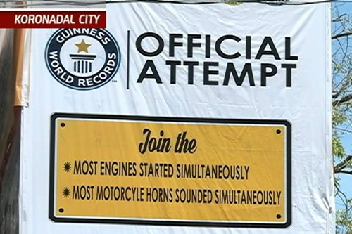 Motorcycle world record, tatangkain ng Koronadal City