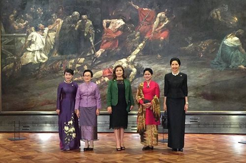 LOOK: Honeylet Avanceña, ASEAN spouses visit National Museum