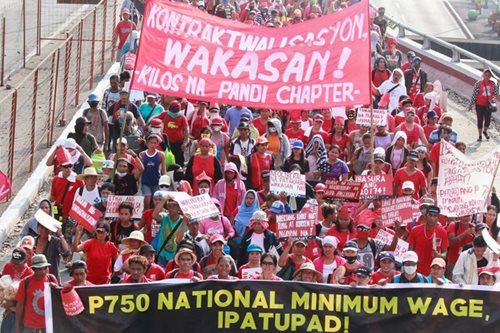 Workers demand wage hike, end to 'endo' on Labor Day