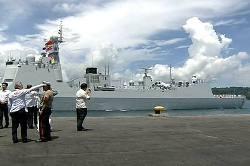 A look at the Chinese Navy warships in Davao City