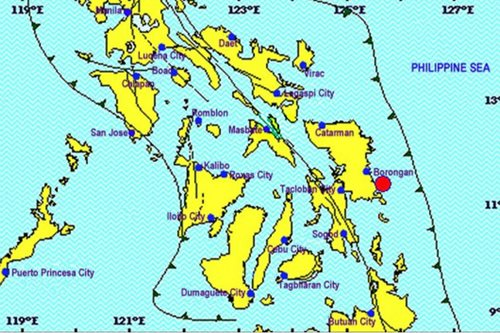 2 lindol naitala sa Surigao del Norte, Eastern Samar