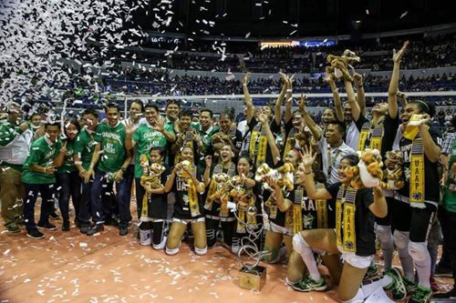 UAAP women's volleyball: La Salle rallies past Ateneo to win championship