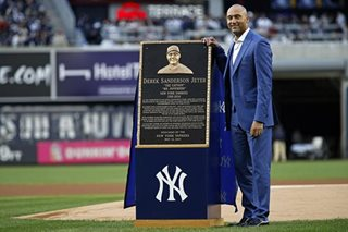 Baseball: Jeter's No. 2 retired in emotional Yankees ceremony