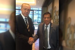 LOOK: Duterte meets Turkish President Erdogan