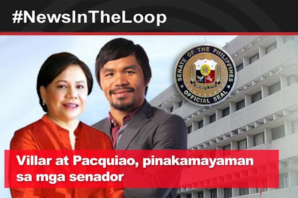 In the Loop: Villar at Pacquiao, pinakamayaman sa mga senador