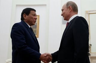 Duterte arrives in Sochi, Russia ahead of meeting with Putin