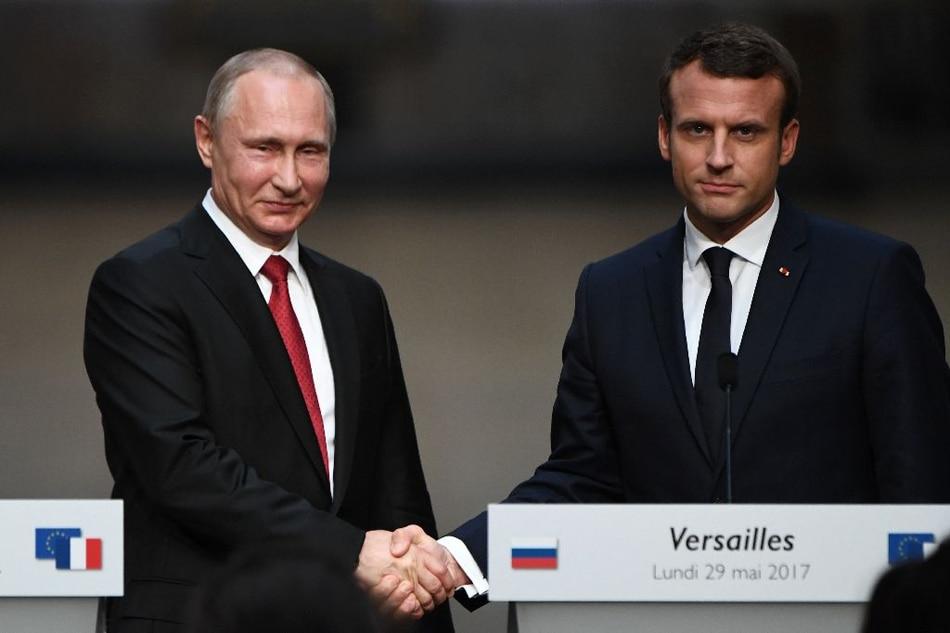 Macron, Putin hold 'frank' talks on Syria, Ukraine 1
