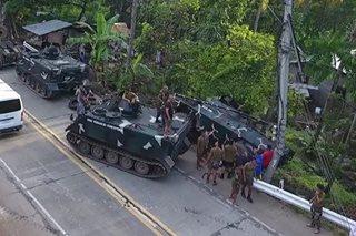 Tangke ng militar, naaksidente sa Iligan City