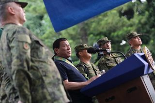 Duterte vows to 'save money' for the AFP