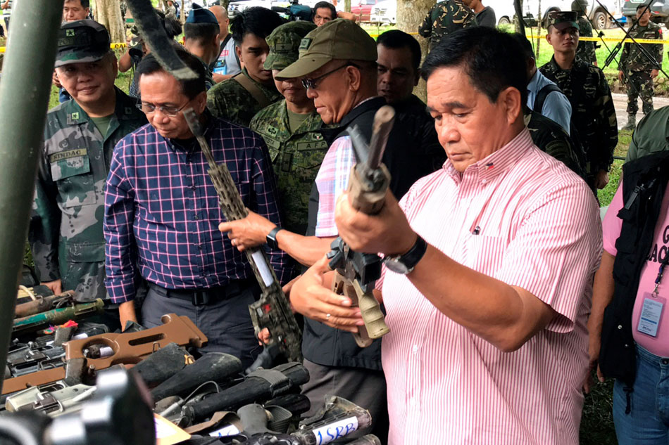 High-powered firearms seized in Marawi