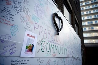 Prayers for London tower fire victims