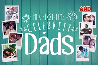 Mga first-time celebrity dads