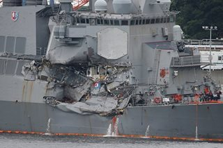 'U.S. warship stayed on deadly collision course despite warning'