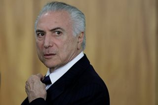 Brazil's President charged with taking bribes