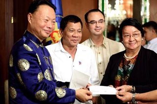 China donates P15-M for Marawi relief, rehab