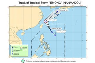 'Emong' intensifies, heads for Japan