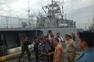 Indonesian navy arrives in Davao for joint border patrol